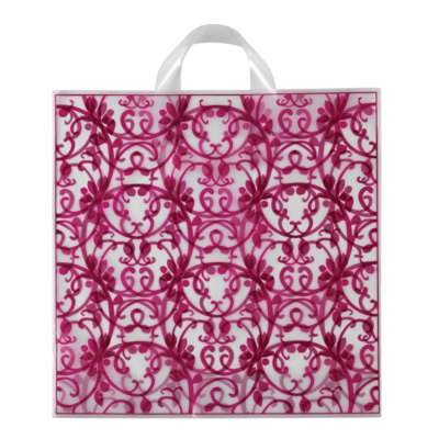 Pink Rococo Plastic Bags