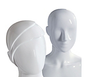 Female Gloss White Plastic Mannequin Heads