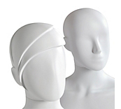 Female Matt White Plastic Mannequin Heads