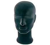 Black Male Mannequin Display Head