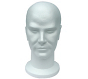White Male Mannequin Display Head