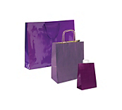 Purple Paper Carrier Bags