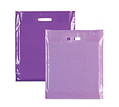 Purple Plastic Carrier Bags