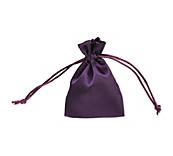 Purple Satin Drawstring Bags