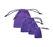 Purple Velvet Pouch Jewellery Bags