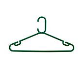 Rainbow Green Plastic Coat Hangers