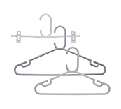Rainbow Grey Plastic Coat Hangers