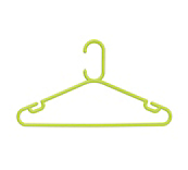 Rainbow Lime Green Plastic Coat Hangers
