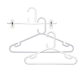 Rainbow White Plastic Coat Hangers