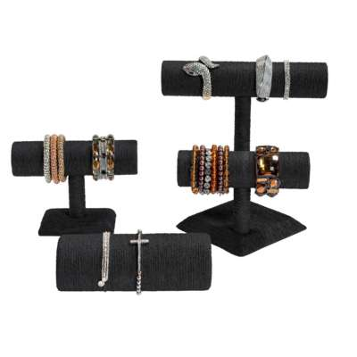 Black Rattan Bangle Stands