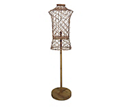 Rattan Bust Stand