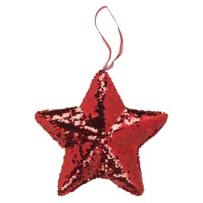 Red Hanging Solid Star