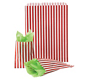 Red Striped Paper Bags
