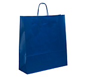 Blue Kraft Paper Carrier Bags