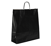 Black Kraft Paper Carrier Bags