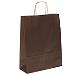 Chocolate Brown Kraft Paper Carrier Bags