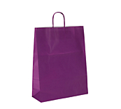 Purple Kraft Paper Carrier Bags
