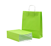 Lime Green Kraft Paper Carrier Bags