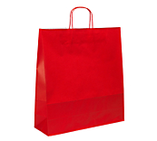Red Kraft Paper Carrier Bags