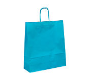 Turquoise Kraft Paper Carrier Bags