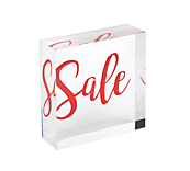 Ribbon Sale Acrylic Block
