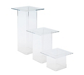 Set of 3 Square Top Pedestals