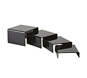 Black Set of 4 Bridge Pedestals
