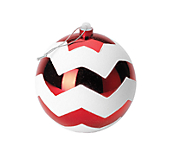 Shatterproof Plain Baubles - Red And White