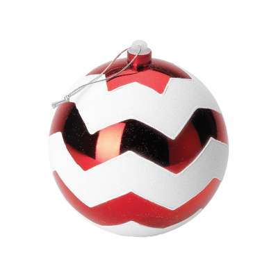 Shatterproof Red & White Baubles