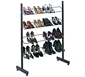 Black Single Sided Shoe Rack