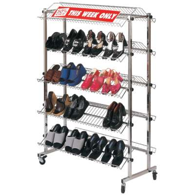 Chrome Double Sided Shoe Rack