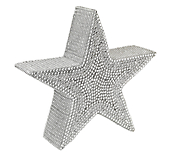 Silver Diamante 3D Star