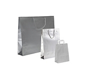 Silver Paper Carrier Bags