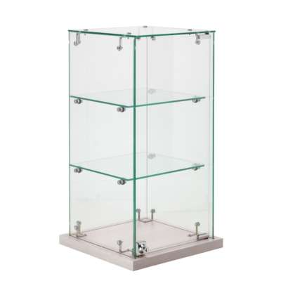 White Slimline Counter Top Display Cabinet
