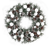 Snowball and Pinecone Wreath