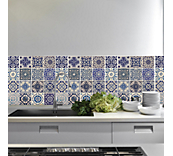 Spanish blue tiles sticker
