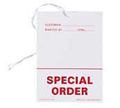 Special Order Tickets