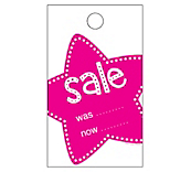 Star Sale Hanger Tickets - Pink