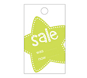 Star Sale Hanger Tickets - Lime