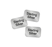 Sterling Silver Stickers