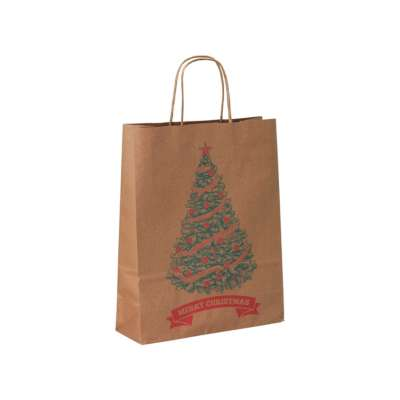 Vintage Christmas Paper Carrier Bags