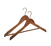 Antique Wooden Flat Coat Hangers