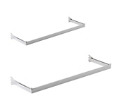 Queen Vogue Chrome Rectangle Wall DRails