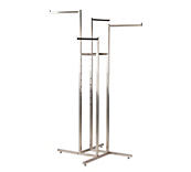 Queen Vogue Brushed Nickel - Clothing Merchandisers