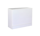 White Combi Enclosed Slimline Counter