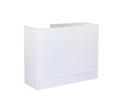 White Enclosed Slimline Counter