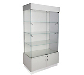 White Gloss Display Cabinets