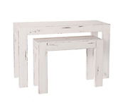 Heritage White Console Tables
