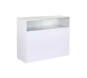 White Quarter Glazed Slimline Counter