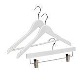 White Soft-Touch Coat Hangers